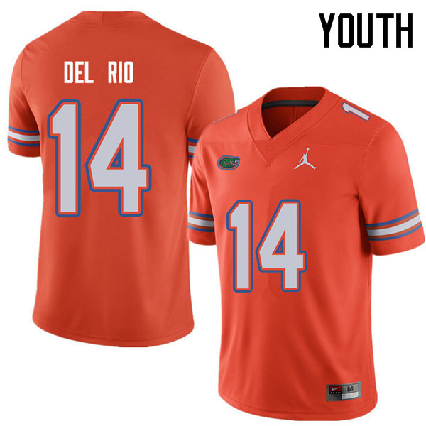 Jordan Brand Youth #14 Luke Del Rio Florida Gators College Football Jerseys Sale-Orange